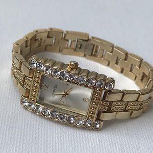 Geneva Gold Crystals Watch